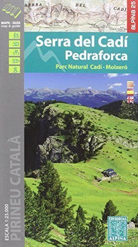 Serra del Cadí-Pedraforca, Mixeró. Escala 1:25.000. Mapa excursionista. Editorial Alpina.