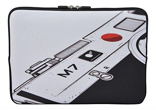 MySleeveDesign Laptoptasche Notebooktasche Sleeve für 10,2 Zoll / 11,6-12,1 Zoll / 13,3 Zoll / 14 Zoll / 15,6 Zoll / 17,3 Zoll - Neopren Schutzhülle mit VERSCH. Designs - Camera [11-12] - Dell-kamera