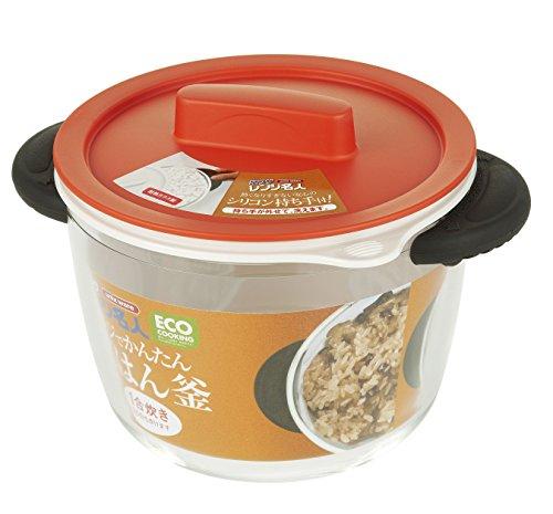 Microondas para cocinar el vidrio Unix olla de arroz Naranja 4548 (Jap?n importaci?n / El paquete y el manual est?n escritos en japon?s)