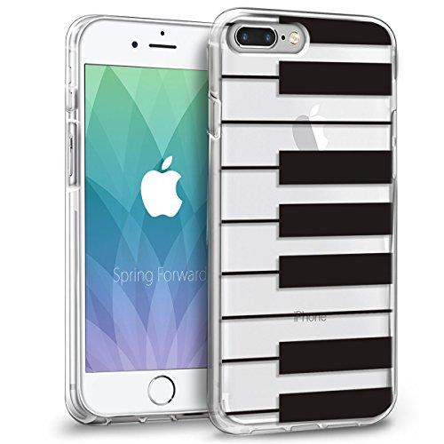 iPhone 8 Plus Hülle, Orzly® Art Case für das iPhone 8 Plus / iPhone 7 Plus - Transparente Handyhülle / Case / Cover / Schutzhülle für das iPhone 8 Plus / iPhone 7 Plus (5.5 Zoll Model) - Kompatibel mi KLAVIERTASTEN Orzly Art Case für iPhone 7 PLUS
