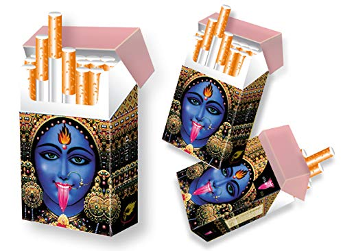 indo slipp - Zigarettenschachtel Überzieher/Hülle ohne Deckel aus Karton/für L-Schachteln (001 Kali, 3 Stück)
