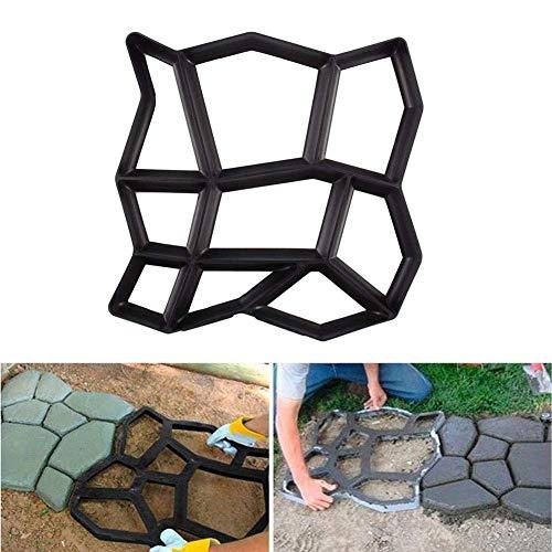 Molde para Cemento Molde para Hacer Pavimentos para Jardín Cemento, Negro, 43...
