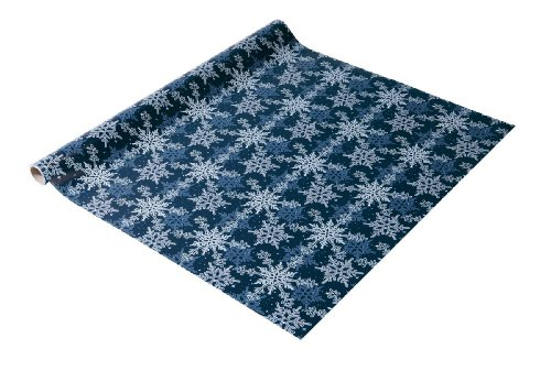 SIGEL GP114 Weihnachts-Geschenkpapier blau/weiß, 1 Rolle 5m x 70cm