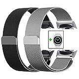 VIGOSS Gear S2 Sport Watch Armband, 20mm Silber voll magnetischer Schnallenverschluss, Netz, Schlaufe, Mailänder Edelstahl Armband Uhrenarmband für Samsung Gear S2 Sport Watch sm-r720/R730