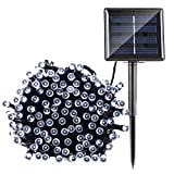 MKT® Solar LED String 8 Modes 200 Lights waterproof Ambiance glowing Outdoor Patio Lawn Landscape Fairy Garden Yard Wedding Christmas Party Xmas Tree (Cool White, Pack 1)