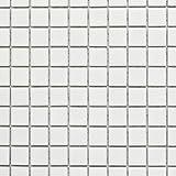 Mosaik Fliese Keramik weiß glänzend für WAND BAD WC DUSCHE KÜCHE FLIESENSPIEGEL THEKENVERKLEIDUNG BADEWANNENVERKLEIDUNG Mosaikmatte Mosaikplatte