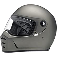 Casco Helmet integral Biltwell Lane divisor approvazione Dot y homologado ECE Europa Italia Titanio Mate Flat Titanium similar Gringo New Retro Epoca Café ...