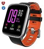 Smartwatch,YAMAY Bluetooth Smart Watch Uhr mit Pulsmesser Armbanduhr Wasserdicht IP68 Fitness Tracker Armband Sport Uhr Fitnessuhr mit Schrittzähler,Schlaf-Monitor,Setz-Alarm,Stoppuhr,SMS-, Anruf-Benachrichtigung Push/Kamera-Fernsteuerung...