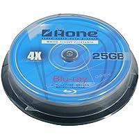 Aone Blu-Ray 10pcs Cakebox, 25GB Full Face Printable BD-R Media