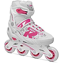 Roces 400827-001 Skate Extensible, Bimba, Rosa Blanca, 30-33