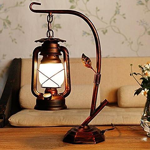 LD-Old Horse Lampe Lampe À L'Huile Ancienne Lampe De Chambre Lampe À Kérosène Etude Retro Rétro Décoration De Lampe