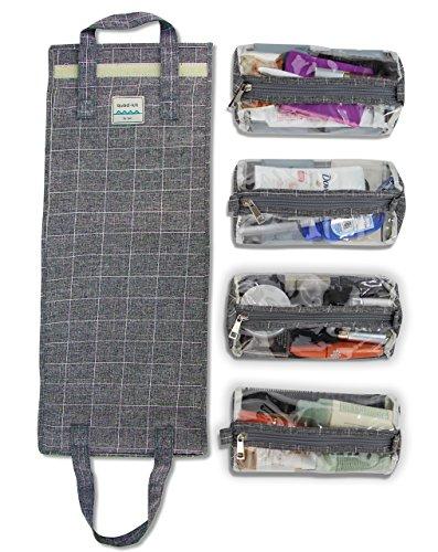 4 Kits Hängende Roll-Up Make-Up Organizer Und Reisetasche - 4 Herausnehmbaren Kulturbeutel Taschen Hochwertige Reißverschlüsse