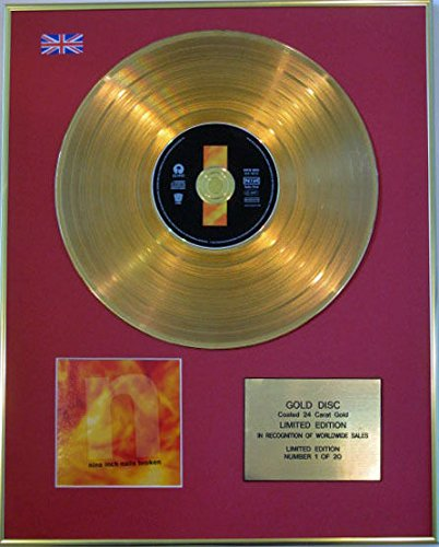 NINE INCH NAILS-Limited Edition CD disco rivestito in oro 24 ct-BROKEN