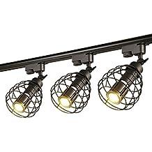 ... lamparas de techo leroy merlin. GRFH Track Spotlight Tienda de Prendas de Vestir Led Retro Fondo Industrial Barra de Pared Lámpara