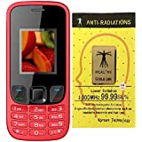 I KALL K29 Dual Sim Mobile With Bluetooth, GPRS, Flash Light And 1800 Mah Battery Capacity Basic Feature Phone Mobile With Anti-Radiation Sticker (RED)