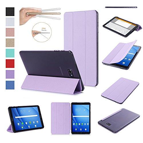 ISIN Tablet Fall Serie Premium PU-Leder Smart Shell Schutzhülle für Samsung Galaxy Tab A 10.1 SM-T580N T585N Android 6.0 Marshmallow Tablet (Violett)