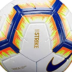 Idea Regalo - Nike Pallone Strike Serie A, Calcio Unisex Adulto, Bianco/Bright Mango Royal Blue, 5