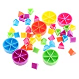 Sharplace Set Di Pezzi Pezzetti Di Torta Plastica Vari Colori Per Frazioni Matematiche Strumento Educativo Di Classe 42 Pezzi