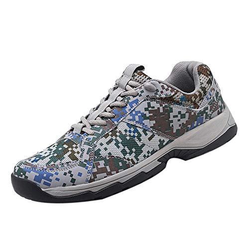 Sneakers Sportive Comodo E Indossabile Scarpe Casual da Uomo per Allenamento Mimetico Corsa All'Aperto Tennis(Camuffare+43 EU)