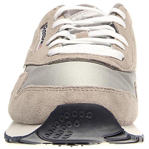 Reebok Classic Nylon, 36088 Sneakers Basses, Homme Argent-Gris