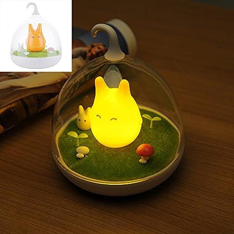 lampada luce arredamento ricaricabile a LED bambino della luce di notte della lampada scuola materna del bambino portatile USB sensore tocco creativo