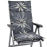 Beautissu Hochlehner Auflage für Gartenstuhl Loft HL Flower 120x50x6cm Bequemes Sitzkissen - Polsterauflage UV-Lichtecht & weitere Designs