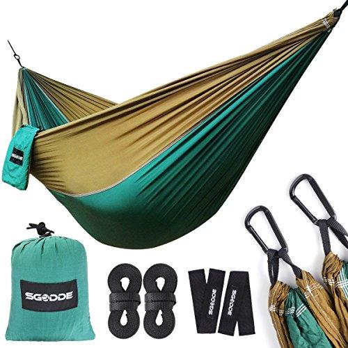 Hamaca, SGODDE Hamaca de Viaje Transpirable, Hamacas para Mochileros, Camping, Jardinería y Viajes