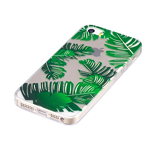 inShang iPhone 6 (6s) 4.7inch custodia cover del cellulare, Anti Slip, ultra sottile e leggero, custodia morbido realizzata in materiale del TPU, frosted shell , conveniente cell phone case per iPhone Banana leaves