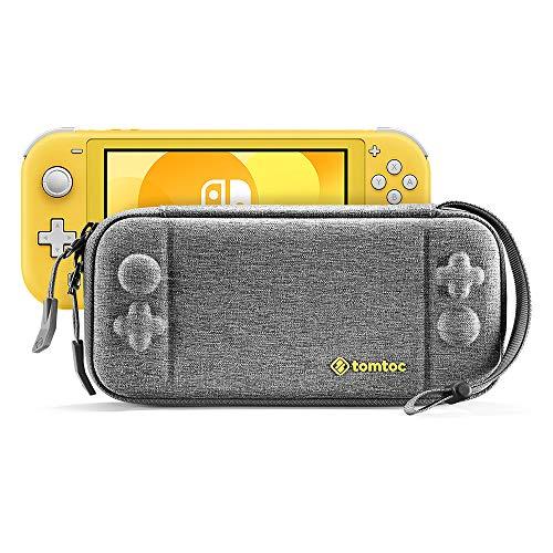 tomtoc Slim Tasche für Nintendo Switch Lite, Schutzhülle Ursprünglich Patent Tragetasche Reise Carrying Case Hartschale kompatibel mit Switch Lite Konsole und 8 Spielkarten, Militärischer Schutz