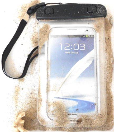 """PRESKIN - Wasserfeste Tasche bis 5.7 Zoll Display, Wasserdichte Smartphone Schutzhülle / Handy Hülle (Beachbag5.7\""""Clear) mit Touchscreen Funktion"""