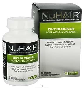 Natrol, NuHair, Bloqueur de DHT pour hommes et femmes, Etape 2 - Bloc, 60 comprimés