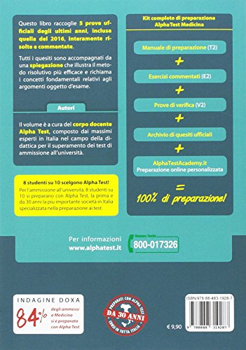 Libro ebook alpha test medicina prove gratis da scarica for Test medicina online