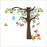 Animal Zoo Stickers muraux Forêt Arbre Décoration Tatouage–hogareña