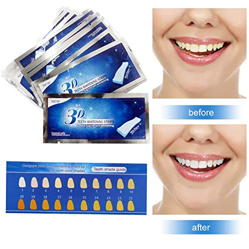 Strisce sbiancanti,teeth whitening strips,sbiancamento dei denti strisce,kit sbiancamento denti – 28 strisce sbiancanti 14 trattamenti - 30 minute
