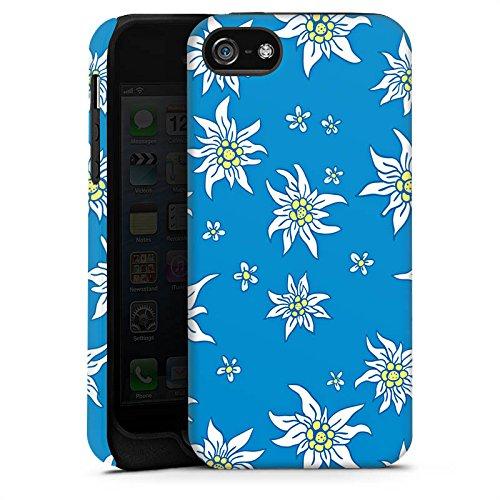 Apple iPhone 4 Housse Étui Silicone Coque Protection Fleurs Fleurs Edelweiss Cas Tough terne