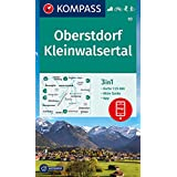 KOMPASS Wanderkarte Oberstdorf, Kleinwalsertal: 3in1 Wanderkarte 1:25000 mit Aktiv Guide inklusive Karte zur offline Verwendu