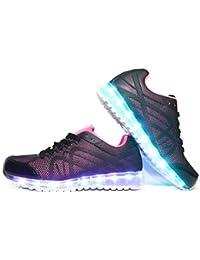 Envio 24 Horas Usay like Zapatillas LED Con 7 Colores Luces Carga USB Rosa/Negra Niña Chica Mujer Unisex R Talla 36 hasta 41 Envio Desde España