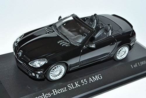 Minichamps Mercedes SLK 55 AMG R171 Cabrio Schwarz W171 2004-2011 1/43 Modell Auto