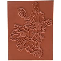 C.C. Designs caoutchouc Dove Art étirable Tampon 7,6cm X 10,2cm, Pavot de l'Himalaya