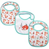 Semme Baby Bibs,3Pcs/Set Knitted Cotton Baby Bibs Feeding Bib Soft Scarf Drool Bibs For Drooling And Teething Baby Boys,Baby Girls Gift Set(Fox)