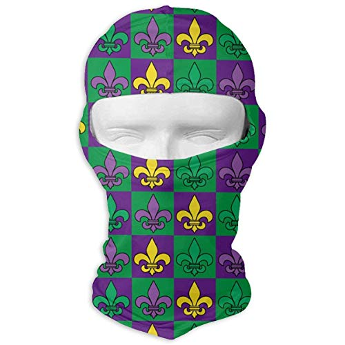 Fleur-de-lis Pattern Balaclava UV Protection Windproof Ski Face Masks Cycling Outdoor Sports Full Face Mask Breathable ()