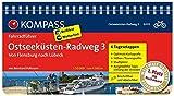 Ostseeküsten-Radweg 3, Von Flensburg nach Lübeck: Fahrradführer mit Routenkarten im optimalen Maßstab. (KOMPASS-Fahrradführer, Band 6003) - Bernhard Pollmann