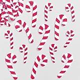 Filzaufkleber Zuckerstangen für festliche Karten, Bastelprojekte und Collagen (100 Stück)