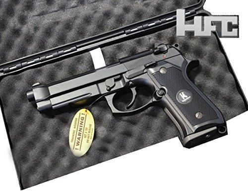 HFC HG194 Softair Pistole CO2 oder Gas Version, Stil M190, max 0.5 Joules, GRATIS 2000 BULLDOG BBS 0.20G+GRATIS PISTOLEN KOFFER (GAS) (Volle Automatische Paintball-pistolen)