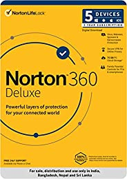 Norton 360 Deluxe |5 Users 3 Years| Total Security for PC, Mac, Android or iOS |Code emailed in 2 Hrs