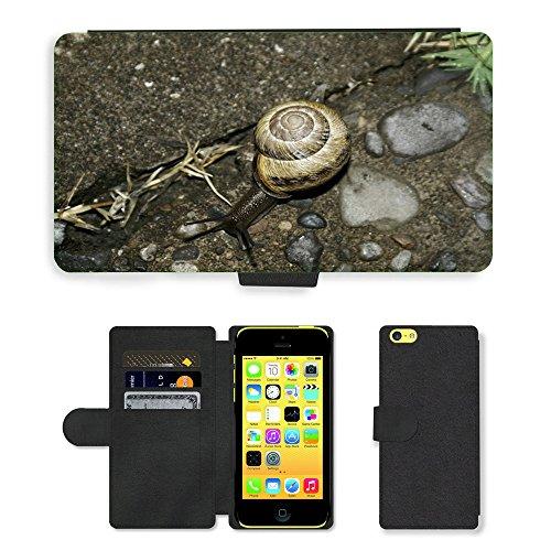 Just Mobile pour Hot Style Téléphone portable étui portefeuille en cuir PU avec fente pour carte//m00138352escargot Animal/terre/Apple iPhone 5C