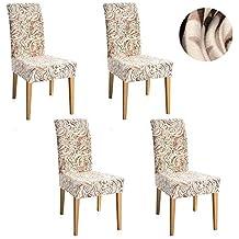 SearchI Fundas de sillas en 4 Piezas, Estirable Cubiertas de la sillas,para el