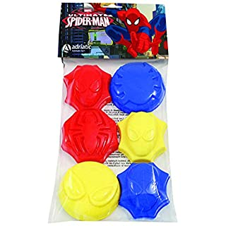 ADRIATIC 797 6 Pieces Spider-Man Moulds in Polybag with Header Card, Multi-Color