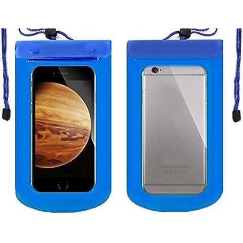 Act - Bolsa protectora impermeable, 18x 12cm, azul, compatible con Amazon Kindle, teléfono móvil, cámara, iLiad, Bookeen, Cybook, Cooler, Sony Reader, Blackberry, PlayBook, libros electrónicos