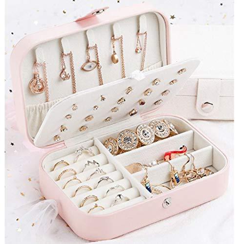 TianranRT★ Tanranrt Cosmetic Storage Box ★ Schmuck Multifunktionsohrringe Schmuckschatulle Multilayer-Gehäuse Schön Und Raffiniert, Pink